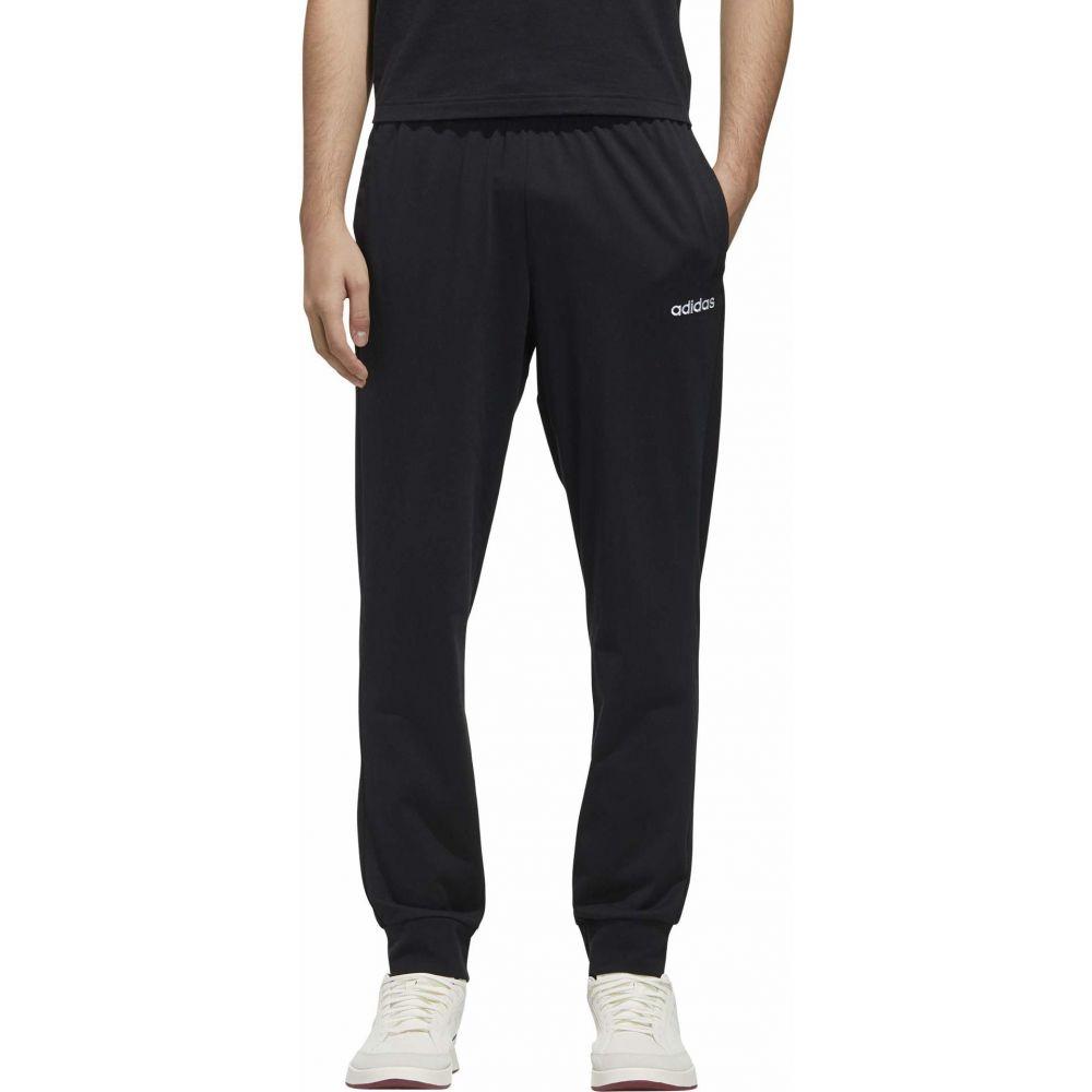 アディダス adidas メンズ ジョガーパンツ ボトムス・パンツ【Essential Single Jersey Jogger Pants】Black/White