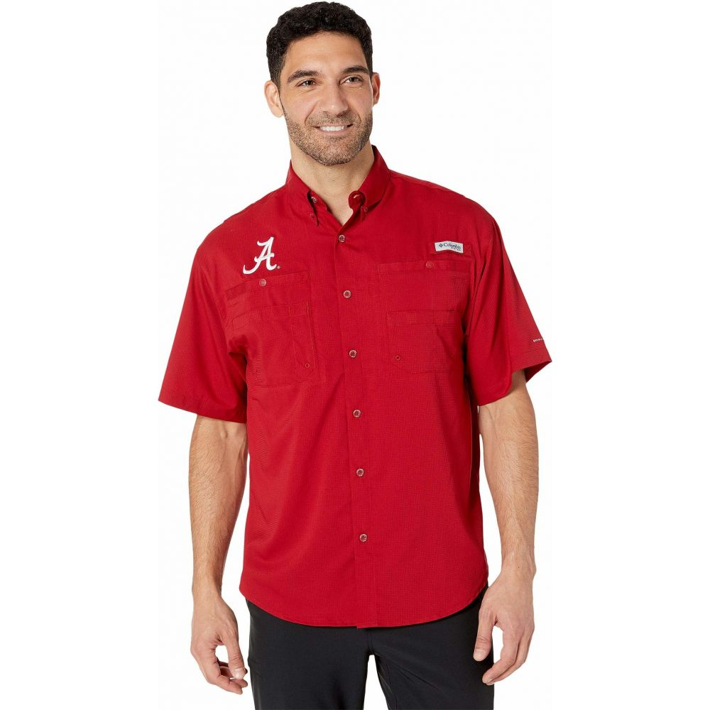 コロンビア Columbia College メンズ 半袖シャツ トップス【Alabama Crimson Tide Collegiate Tamiami(TM) II Short Sleeve Shirt】Red Velvet