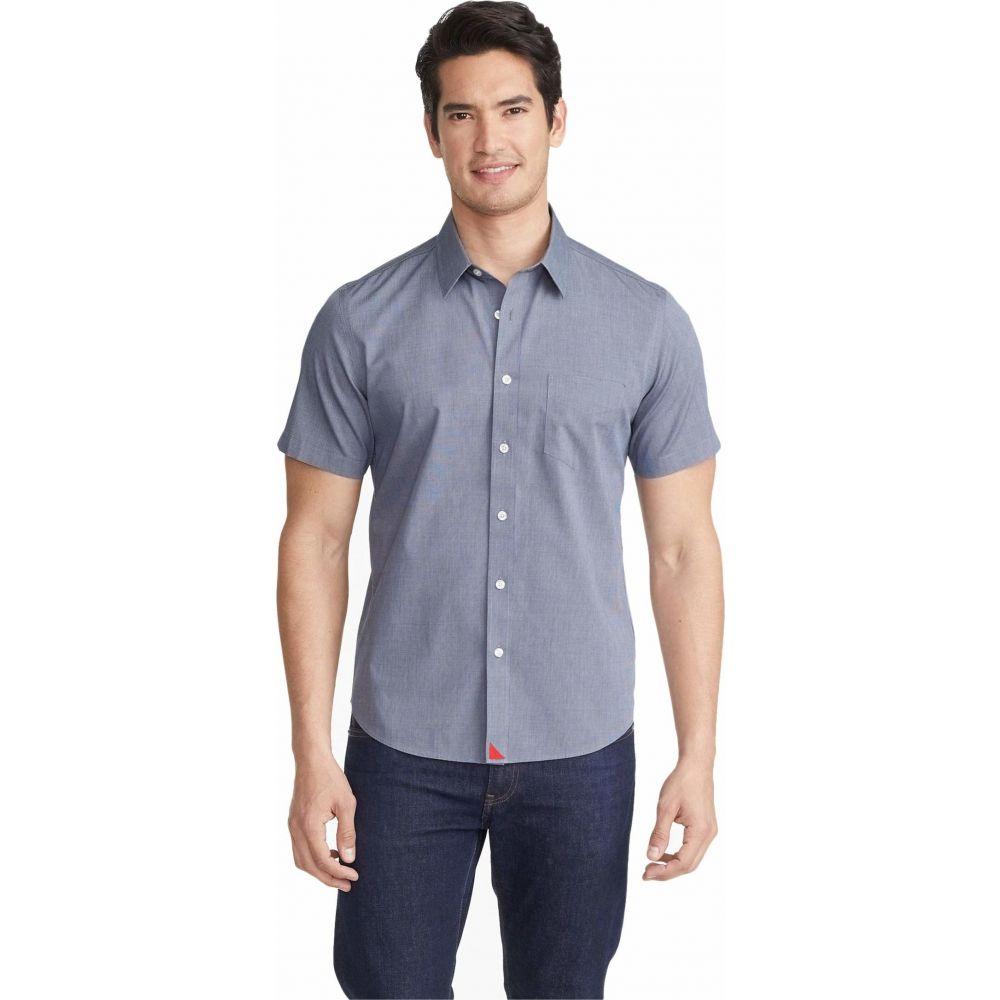 アンタックイット UNTUCKit メンズ 半袖シャツ トップス【Wrinkle-Free Short Sleeve Shirt】Navy