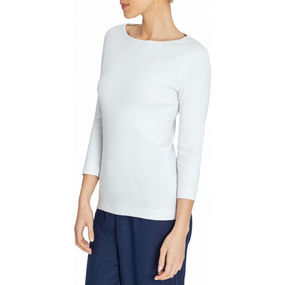 スリードッツ Three Dots レディース 長袖Tシャツ 七分袖 トップス【100% Cotton Heritage Knit 3/4 Sleeve British Tee】Surf