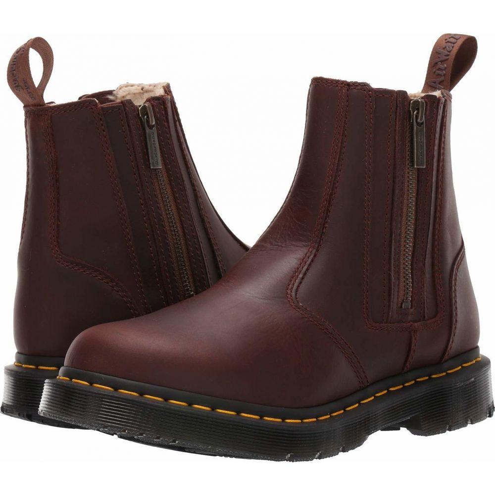 ドクターマーチン Dr. Martens レディース ブーツ シューズ・靴【2976 Alyson DM'S Wintergrip】Dark Brown Snowplow Waterproof/Mustang Waxy Suede Waterproof