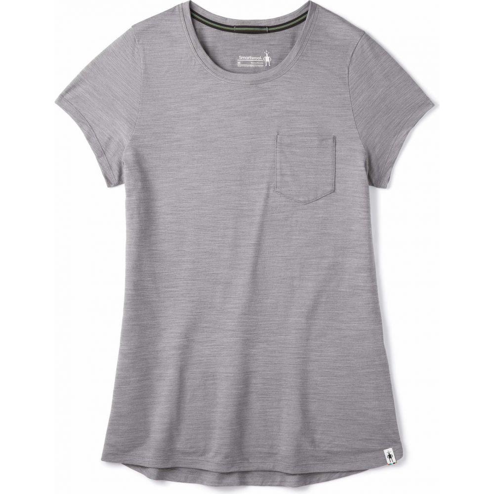 スマートウール Smartwool レディース Tシャツ ポケット トップス【Merino Sport 150 Pocket Tee】Light Gray Heather