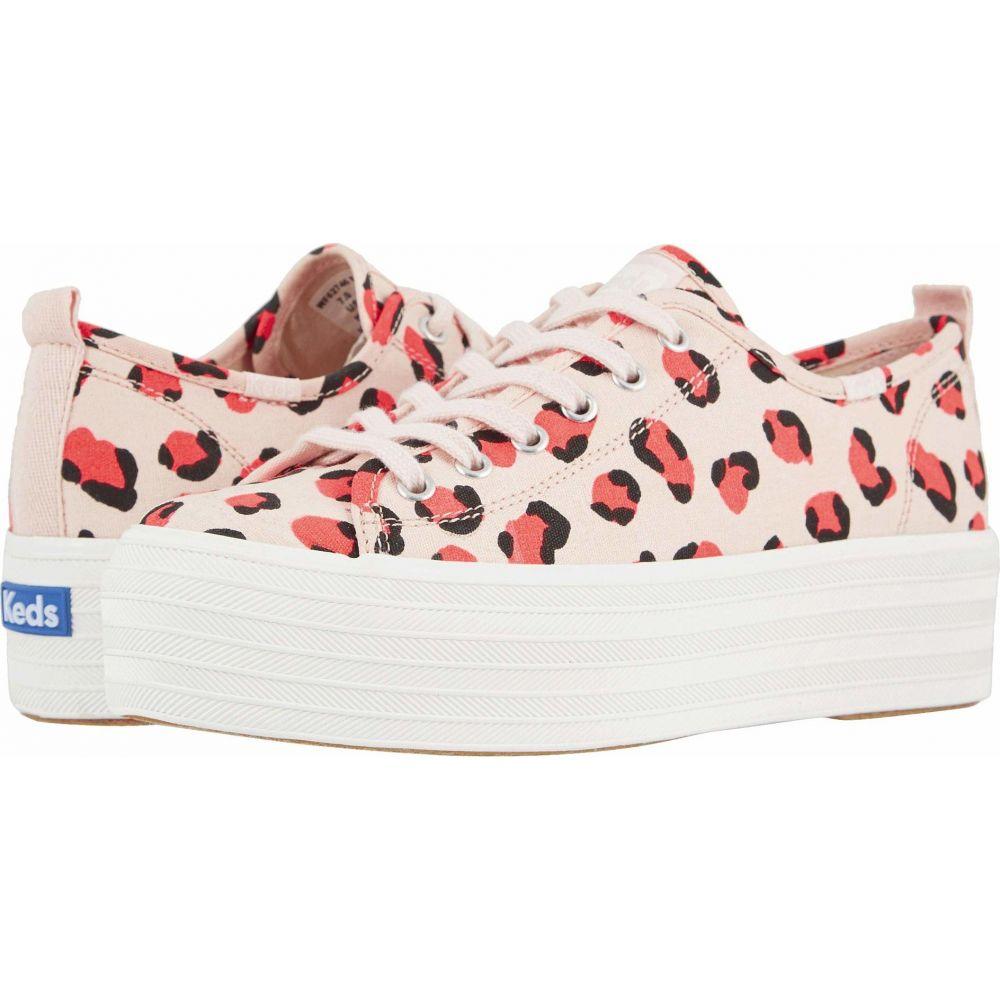 ケッズ Keds レディース スニーカー シューズ・靴【Triple Up Leopard】Light Pink/Coral