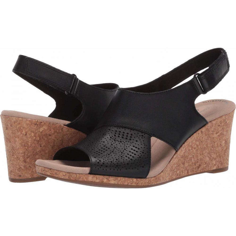 クラークス Clarks レディース サンダル・ミュール シューズ・靴【Lafley Joy】Black Leather