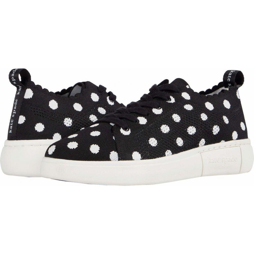 ケイト スペード Kate Spade New York レディース スニーカー シューズ・靴【Lift Knit Geo】Black/Optic White Dots
