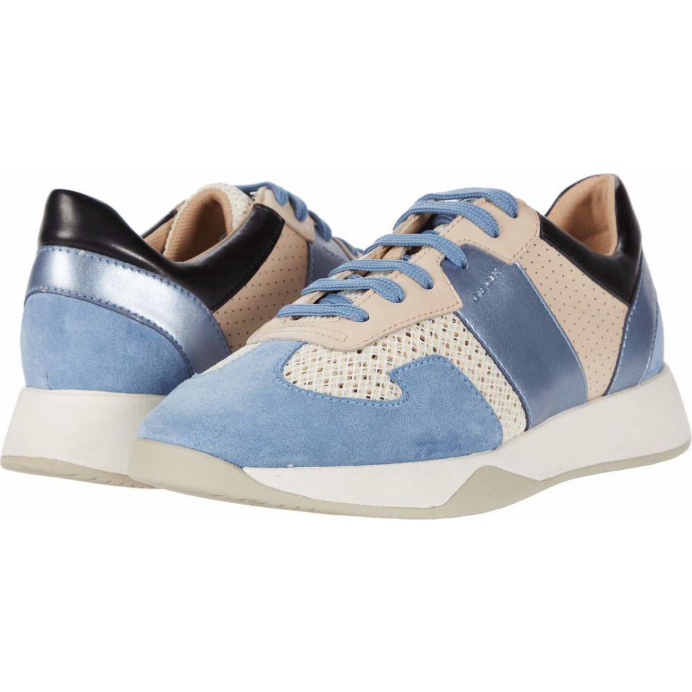 ジェオックス Geox レディース スニーカー シューズ・靴【Suzzie 9】Off-White/Light Blue