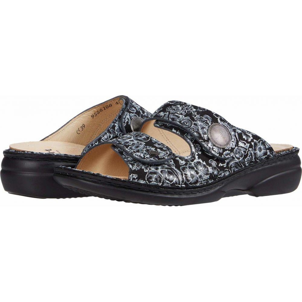 フィンコンフォート Finn Comfort レディース サンダル・ミュール シューズ・靴【Sansibar - 82550】Black/Floral/Print