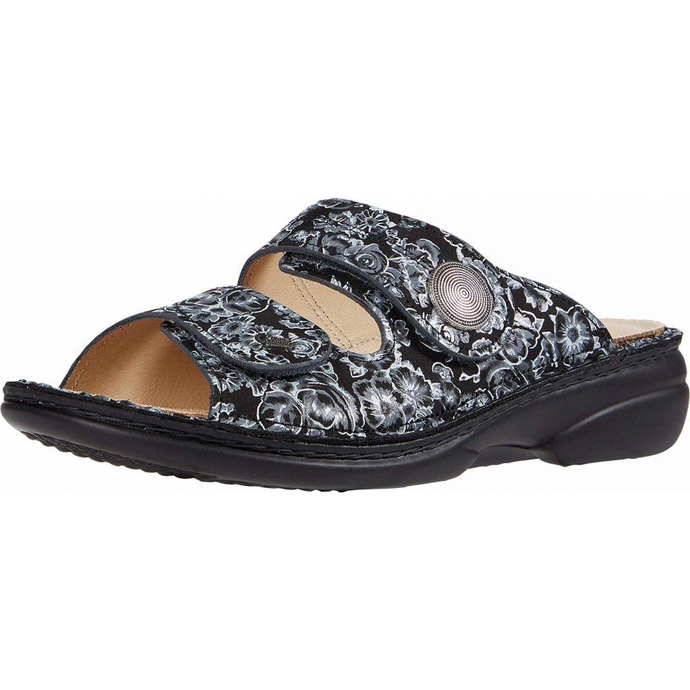 フィンコンフォート Finn Comfort レディース サンダル・ミュール シューズ・靴 Sansibar82550 Black Floral Print3q54AjLR