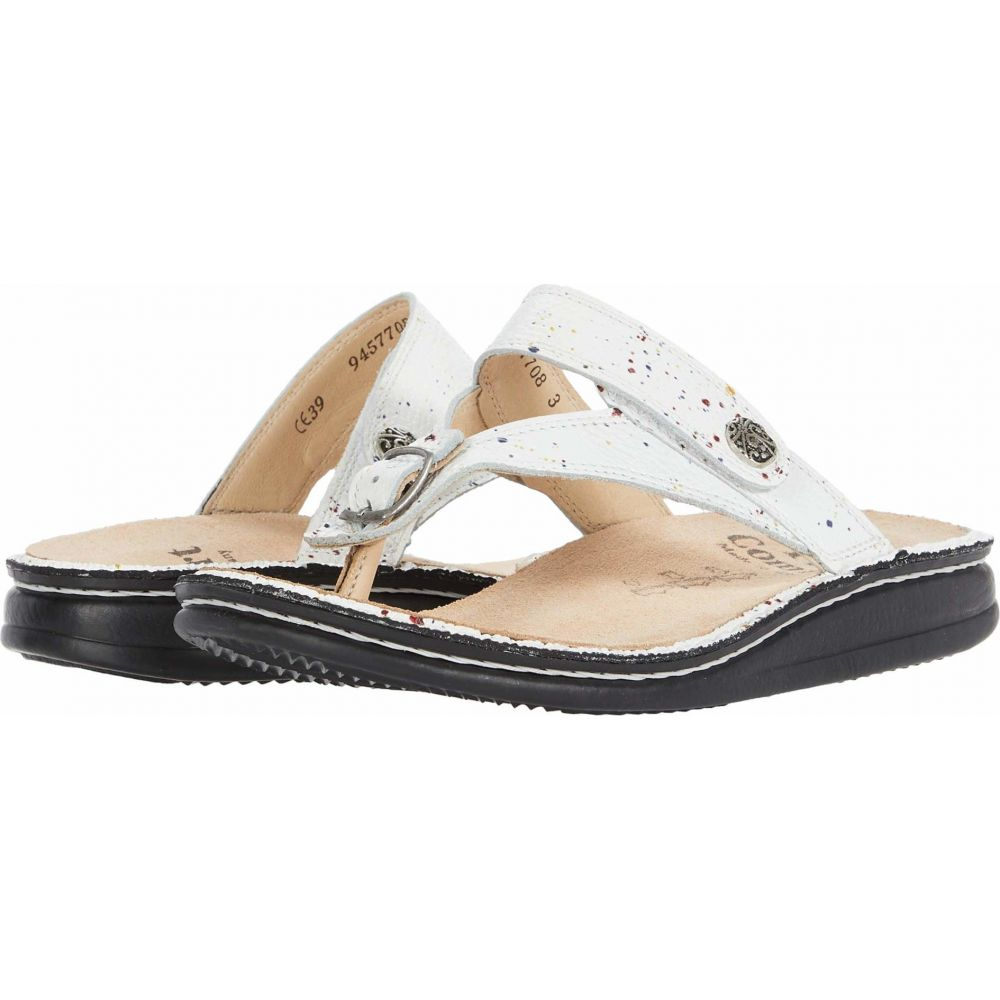 フィンコンフォート Finn Comfort レディース サンダル・ミュール シューズ・靴【Alexandria-S】White/Speckled Vangogh Weiss