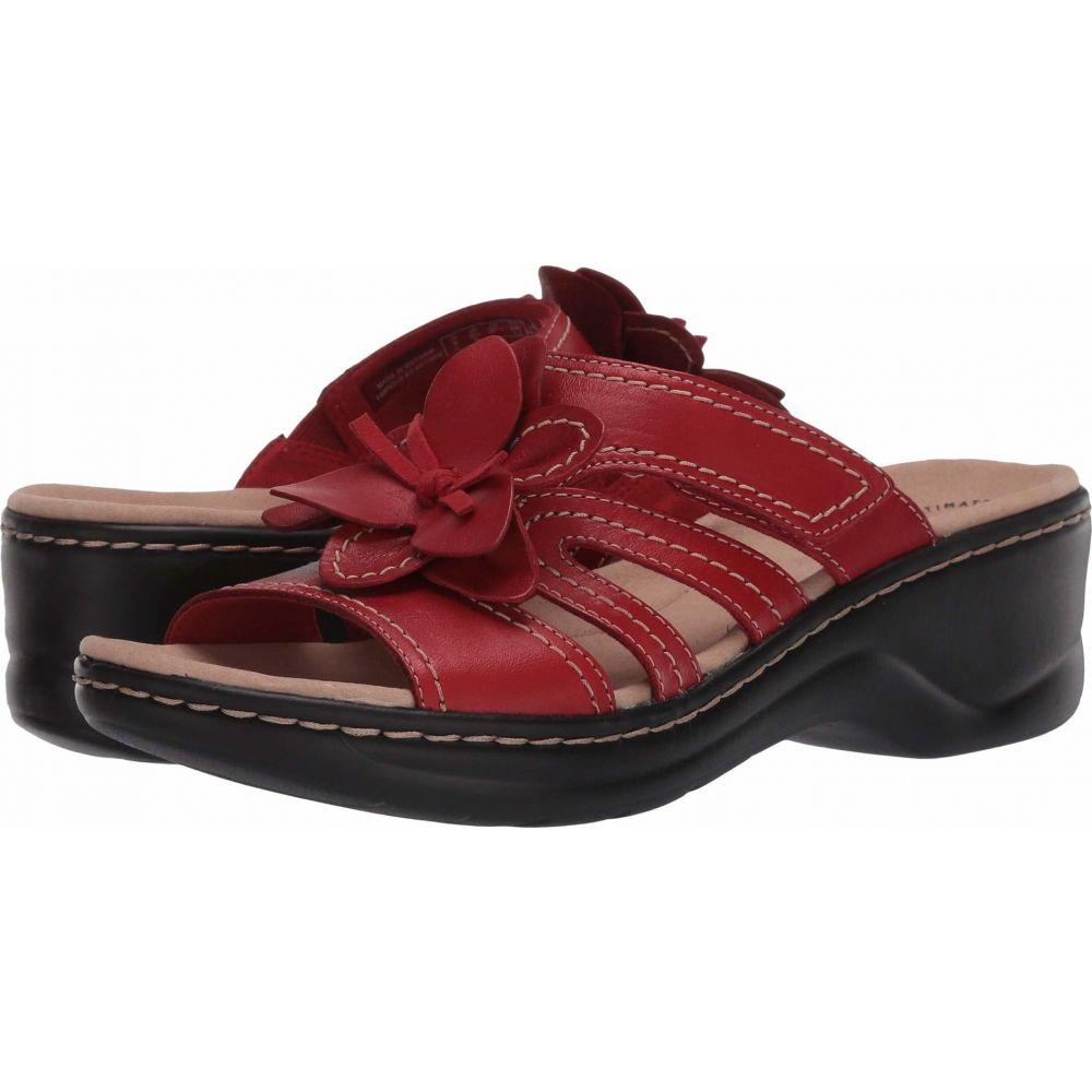 クラークス Clarks レディース サンダル・ミュール シューズ・靴【Lexi Opal】Red Leather