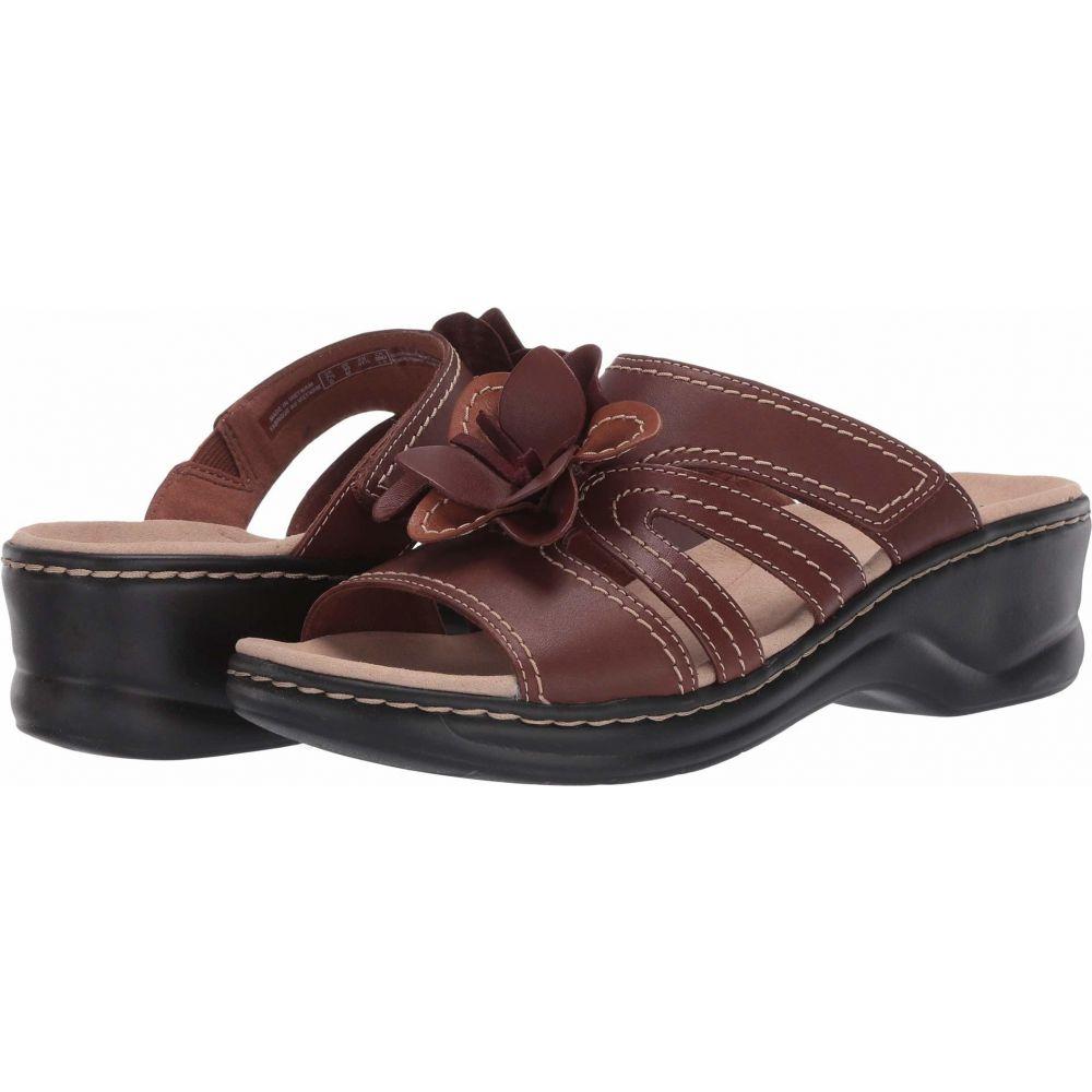 クラークス Clarks レディース サンダル・ミュール シューズ・靴【Lexi Opal】Dark Tan Leather Combi