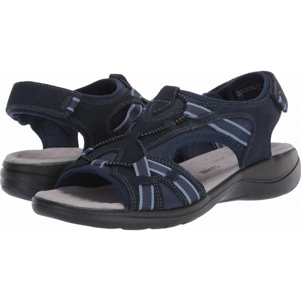 クラークス Clarks レディース サンダル・ミュール シューズ・靴【Saylie Loop】Navy Suede