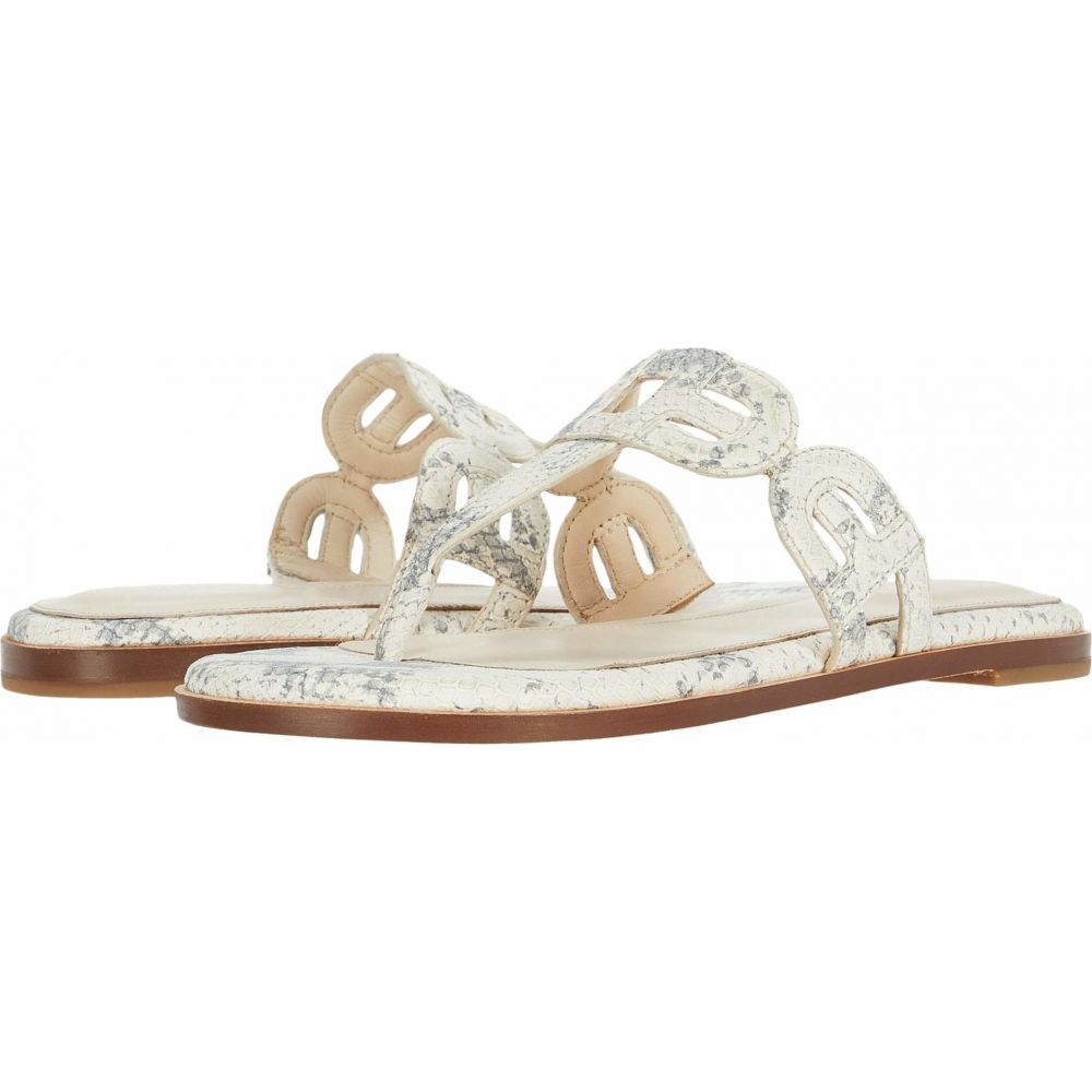 コールハーン Cole Haan レディース ビーチサンダル シューズ・靴【Anoushka Sandal】Natural Chalk Python Print Leather/Natural Heavy Stitch