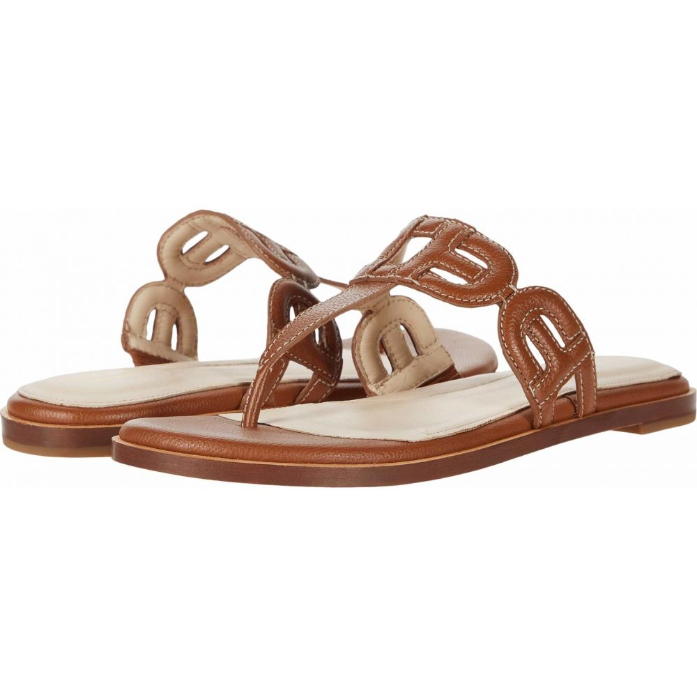 コールハーン Cole Haan レディース ビーチサンダル シューズ・靴【Anoushka Sandal】British Tan Leather Natural Heavy Guage Stitch/Dark Natural