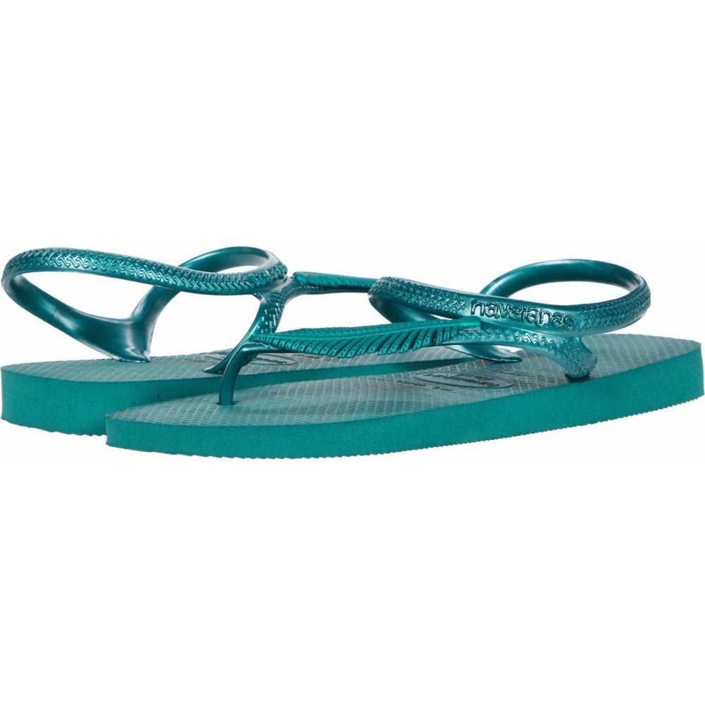 ハワイアナス Havaianas レディース ビーチサンダル シューズ・靴【Flash Urban Plus Sandal】Green Leaf