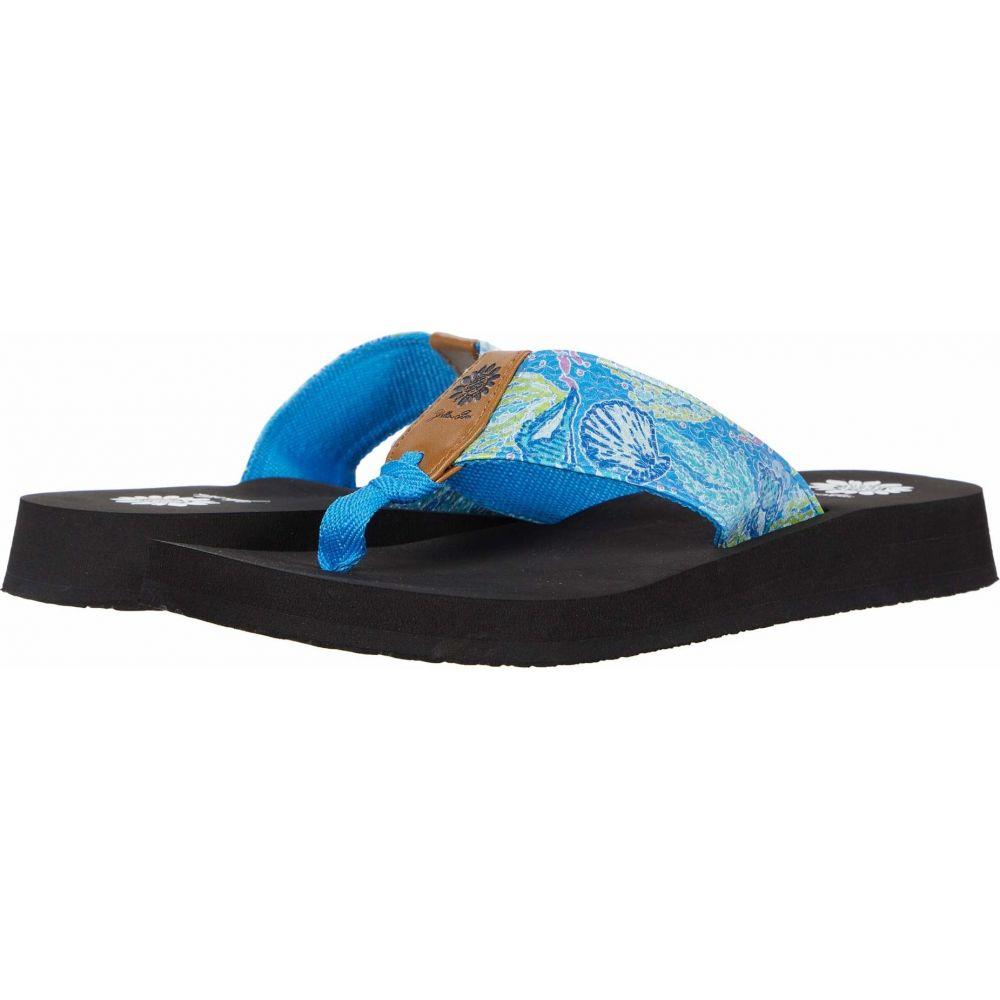 イエローボックス Yellow Box レディース ビーチサンダル シューズ・靴【Flicka】Blue