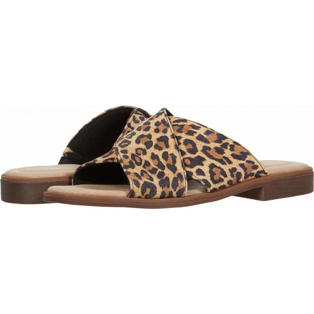 クラークス Clarks レディース サンダル・ミュール シューズ・靴【Declan Ivy】Tan Leopard Suede