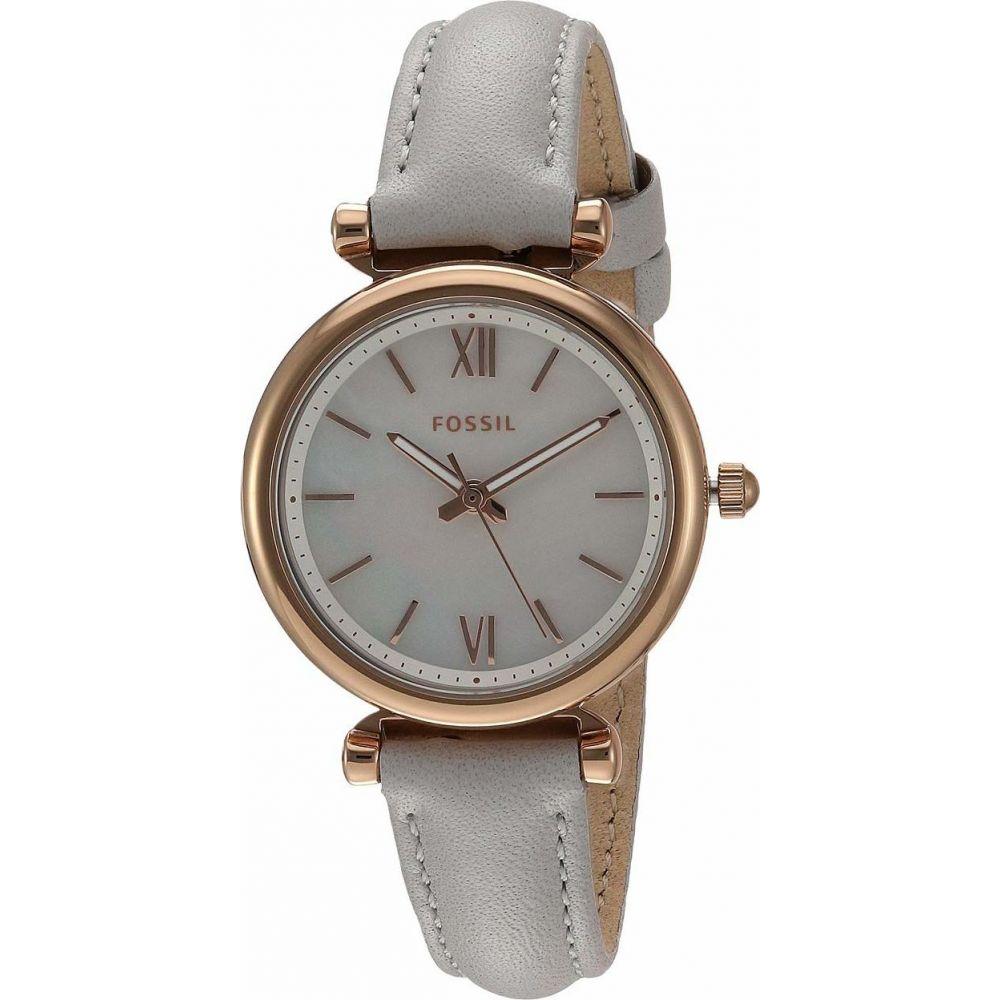 フォッシル Fossil レディース 腕時計 【Carlie Mini Three-Hand Leather Watch】