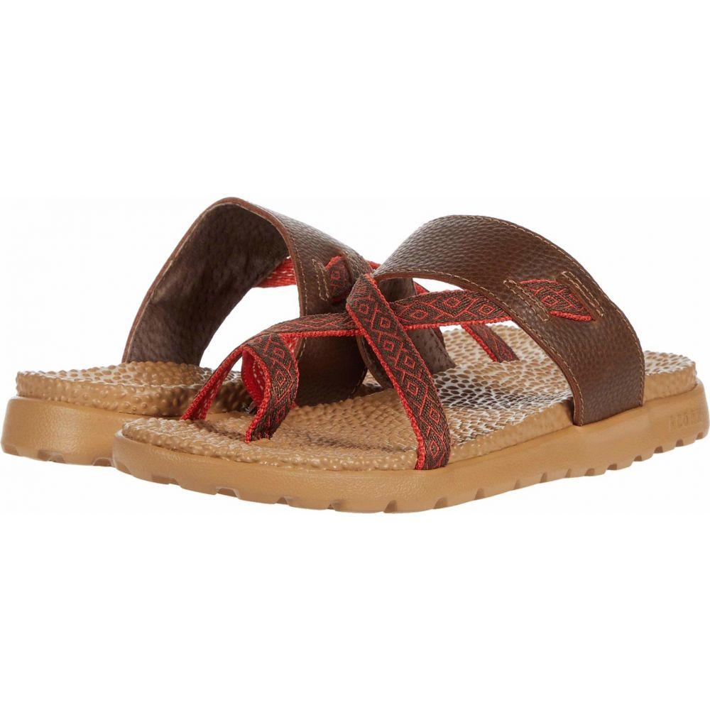 エーコーン Acorn レディース サンダル・ミュール シューズ・靴【Everywear(TM) Riley Sandal】Walnut Brown