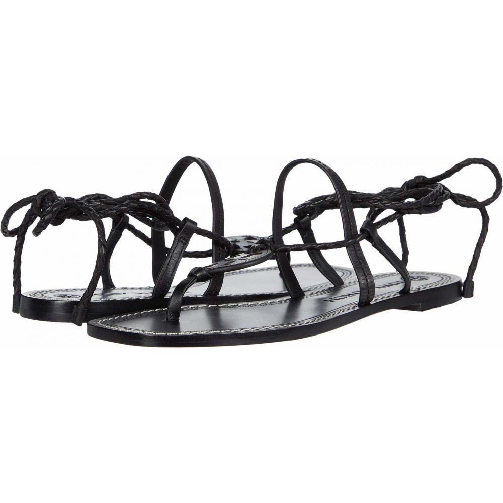 トリー バーチ Tory Burch レディース サンダル・ミュール シューズ・靴【Miller Braided Ankle Wrap Sandal】Perfect Black/Perfect Black