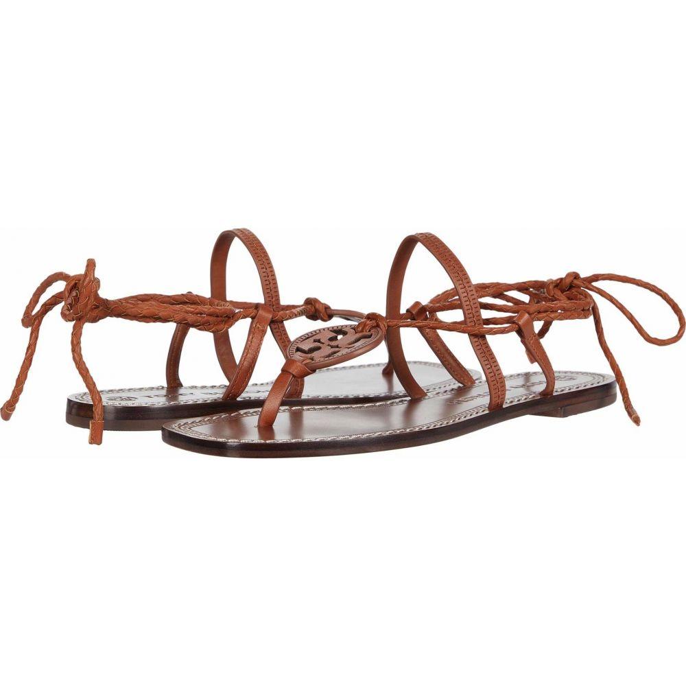 トリー バーチ Tory Burch レディース サンダル・ミュール シューズ・靴【Miller Braided Ankle Wrap Sandal】Dark Ambra/Dark Ambra