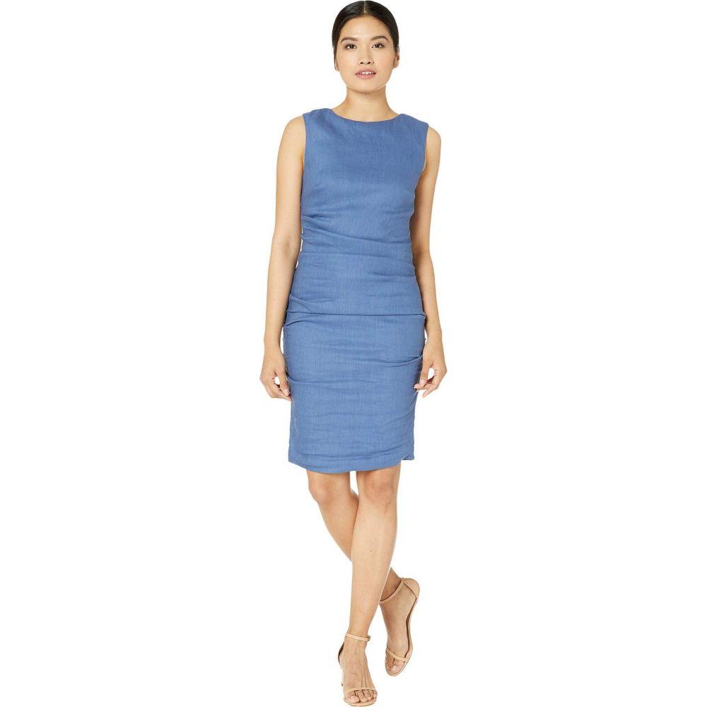 ニコルミラー Nicole Miller レディース ワンピース ワンピース・ドレス【Lauren Stretch Linen Dress】Vintage Denim