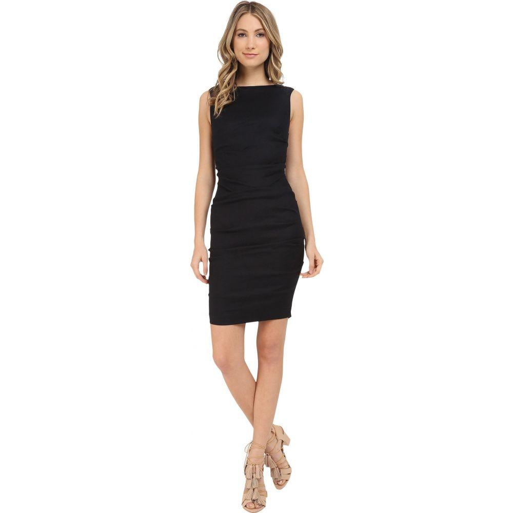 ニコルミラー Nicole Miller レディース ワンピース ワンピース・ドレス【Lauren Stretch Linen Dress】Black