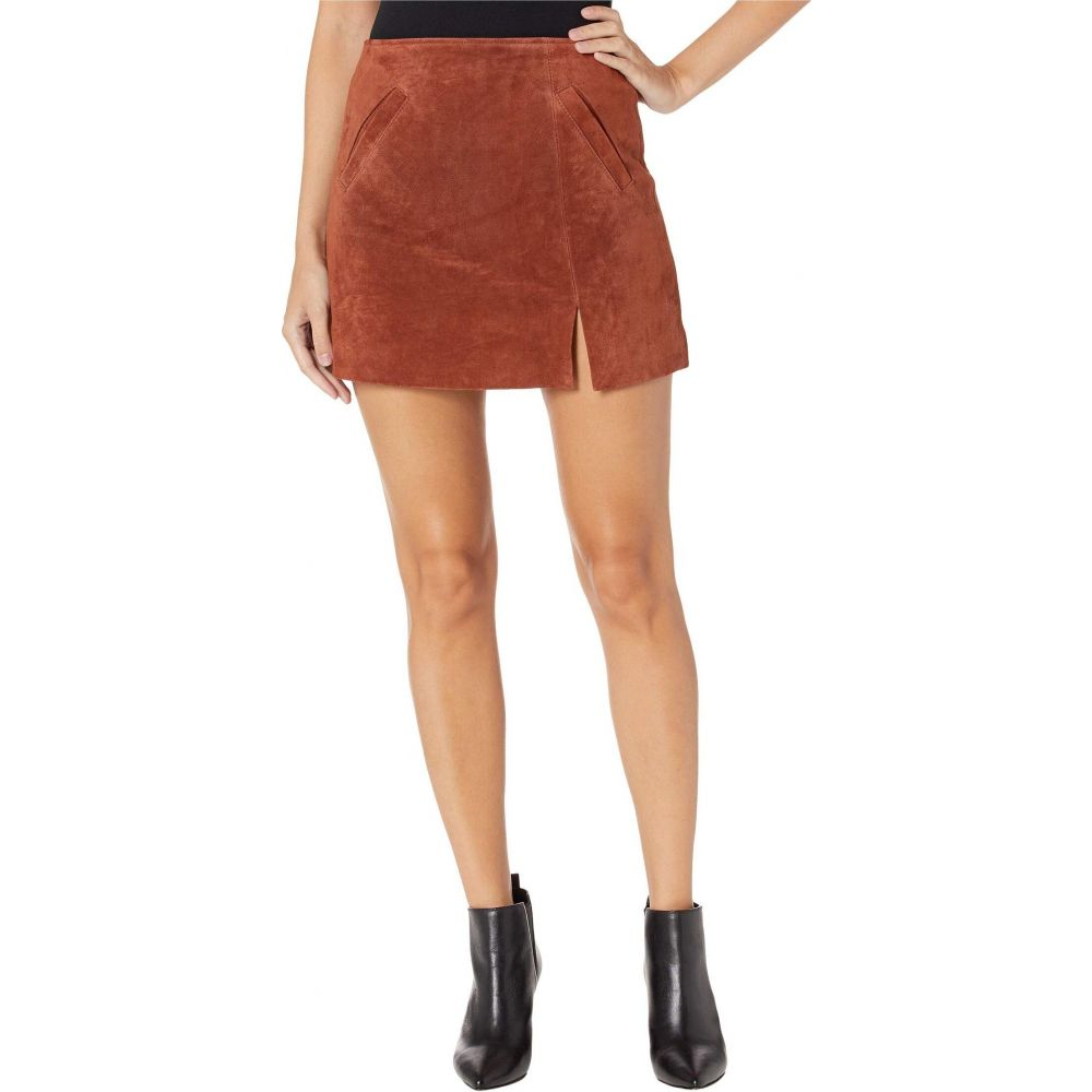 ブランクニューヨーク Blank NYC レディース スカート スリットスカート【Suede Skirt w/ Side Slit】Dried Tobacco