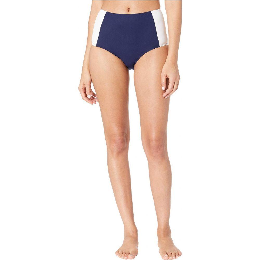 トリー バーチ Tory Burch Swimwear レディース ボトムのみ 水着・ビーチウェア【Lipsi High-Waisted Bikini Bottoms】Navy/White