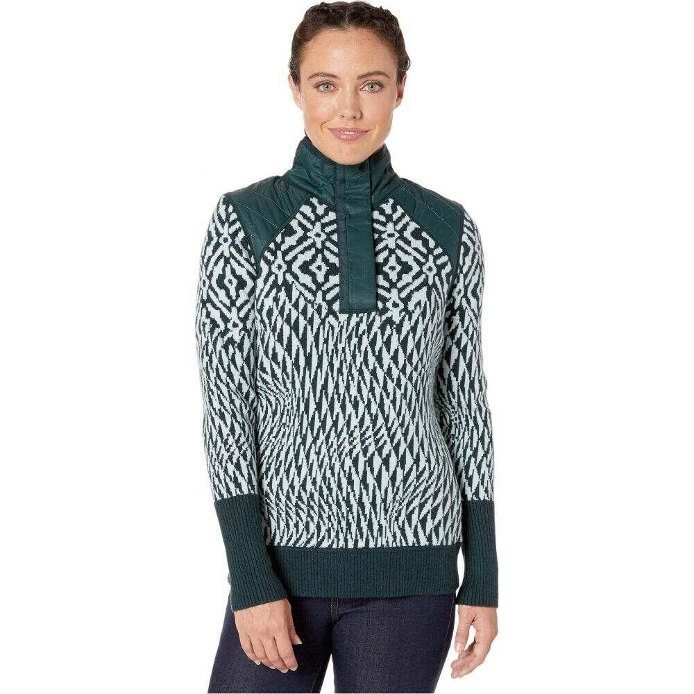 スマートウール Smartwool レディース ニット・セーター トップス【Ski Ninja Pullover Sweater】Frosty Green Heather