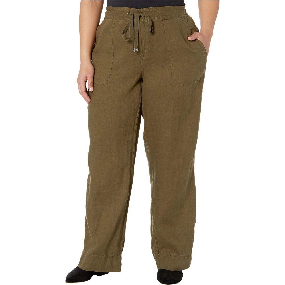 ラルフ ローレン LAUREN Ralph Lauren レディース ボトムス・パンツ 大きいサイズ【Plus Size Linen Wide-Leg Pants】Dark Sage
