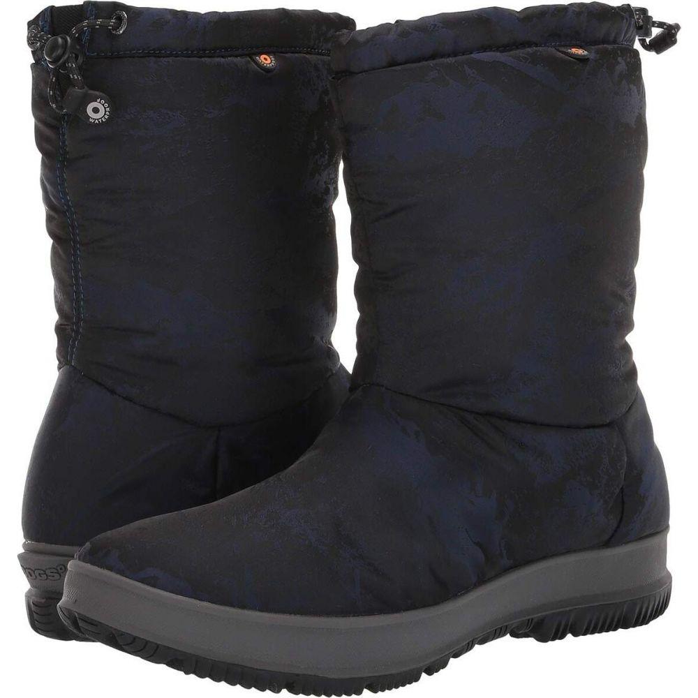 ボグス Bogs レディース ブーツ シューズ・靴【Snowday Mid Mountain】Dark Blue