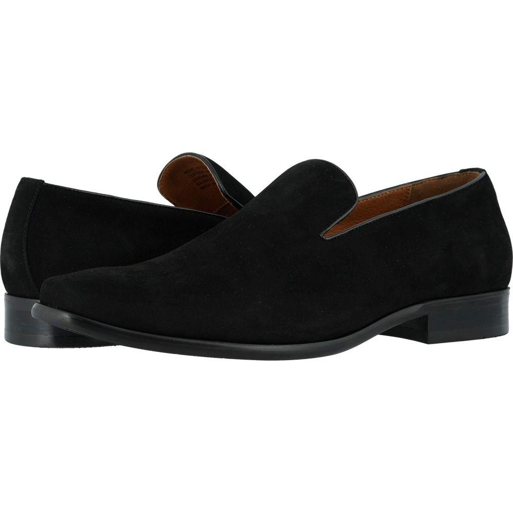 フローシャイム Florsheim メンズ スリッポン・フラット シューズ・靴【Postino Plain Toe Slip-On】Black Nubuck