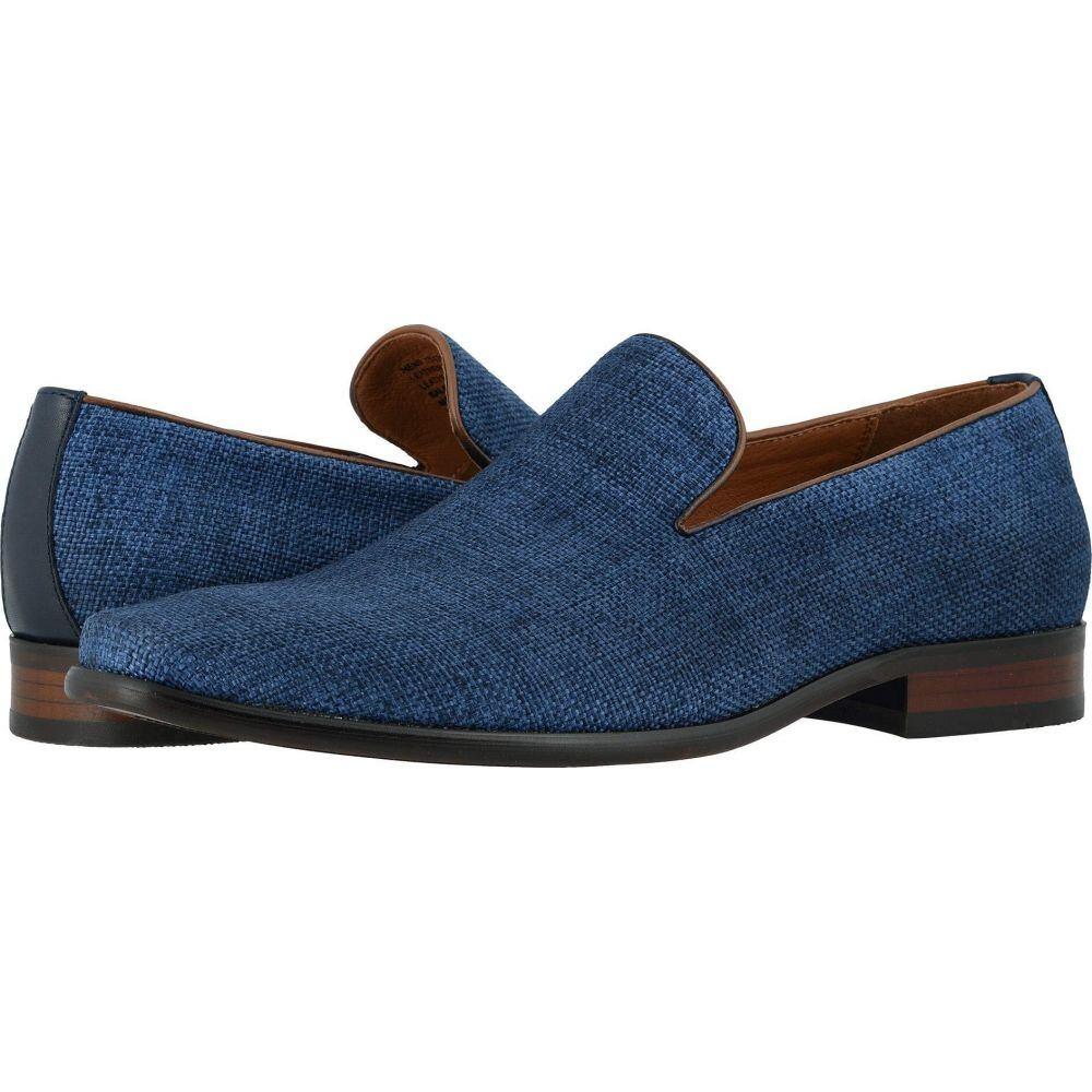 フローシャイム Florsheim メンズ スリッポン・フラット シューズ・靴【Postino Plain Toe Linen Slip-On】Blue Linen