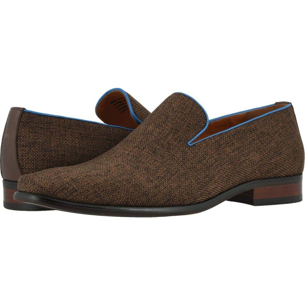 フローシャイム Florsheim メンズ スリッポン・フラット シューズ・靴【Postino Plain Toe Linen Slip-On】Cocoa Linen