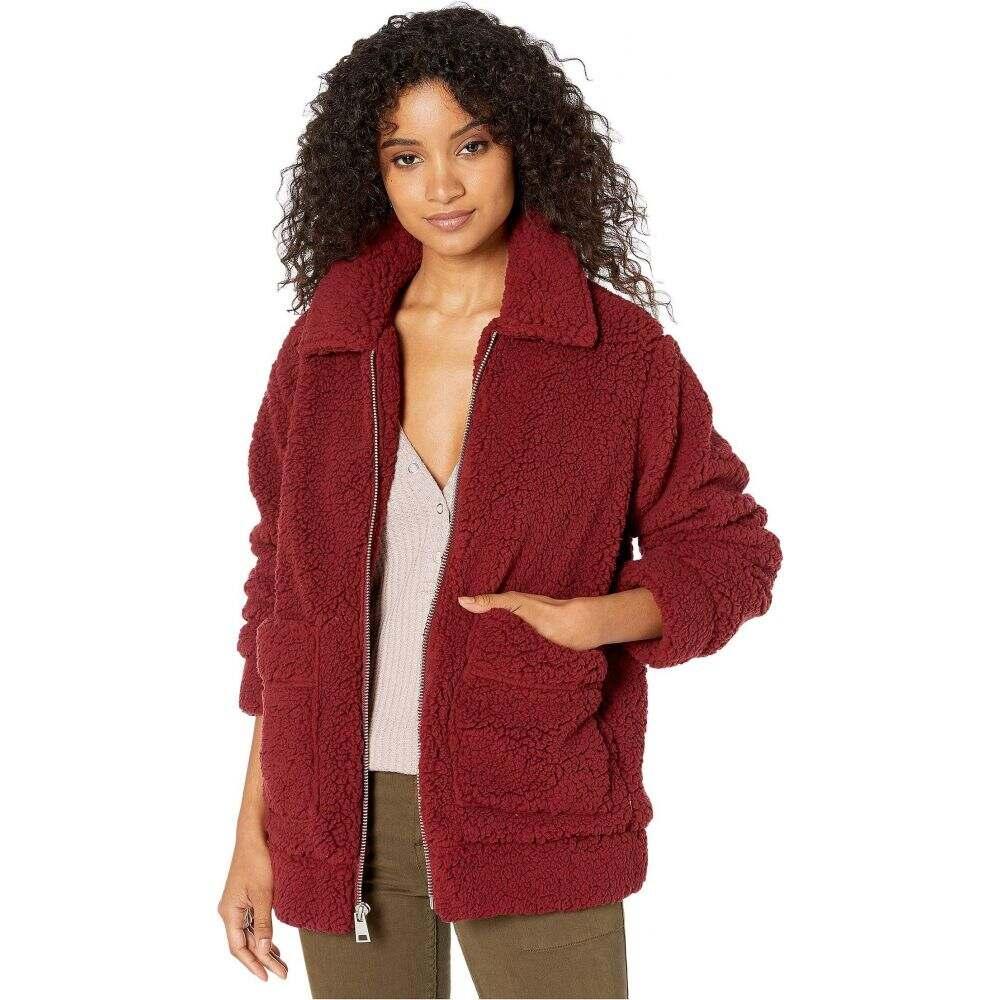 保障できる リーバイス Levi&39;s レディース トップス 【Sherpa Mid Length Zip Front Two-Pocket】Red, いきいき健康館 298c73fb