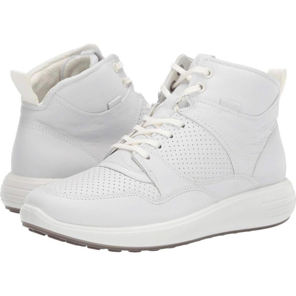 エコー ECCO レディース スニーカー ショートブーツ シューズ・靴【Soft 7 Runner Ankle Boot】White