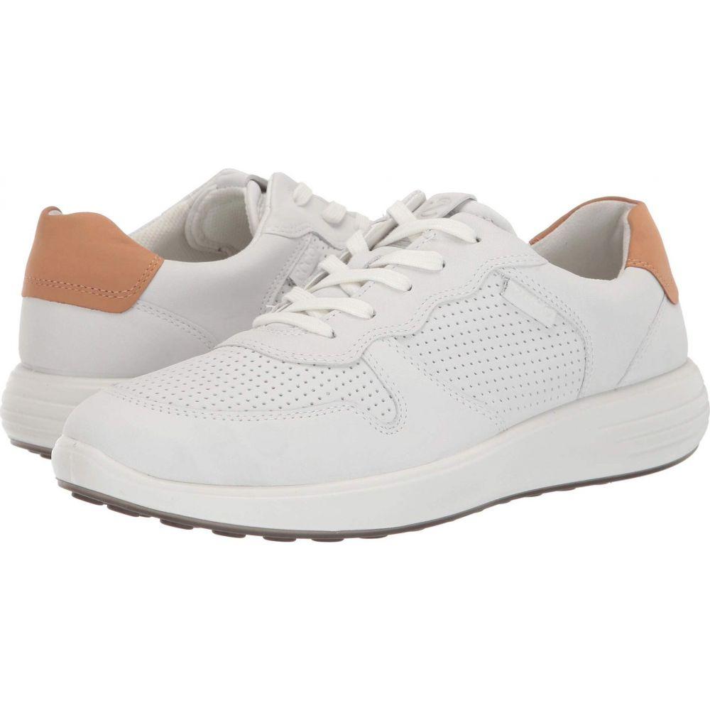 エコー ECCO メンズ スニーカー シューズ・靴【Soft 7 Runner Perforated】White/Lion