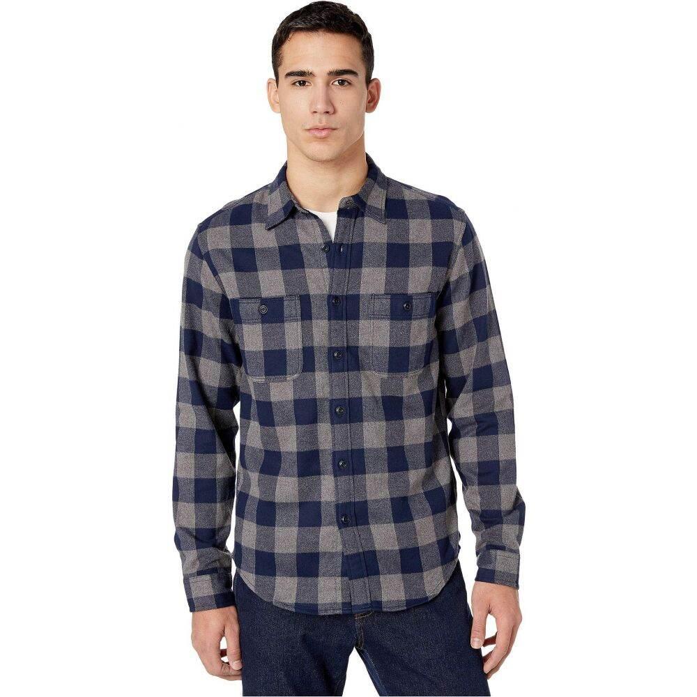 ジェイクルー J.Crew メンズ シャツ フランネルシャツ トップス【Slim Midweight Flannel Shirt in Buffalo Check】Buffalo Check Grey/Navy