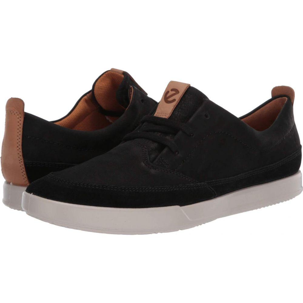 エコー ECCO メンズ スニーカー シューズ・靴【Cathum Leisure Sneaker】Black/Black/Lion