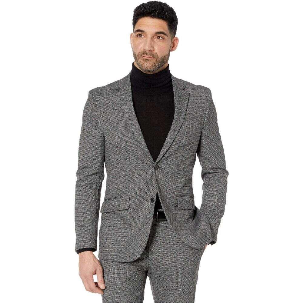 ペリー エリス Perry Ellis メンズ スーツ・ジャケット アウター【Slim Stretch Texture Jacket】Smoke Pearl