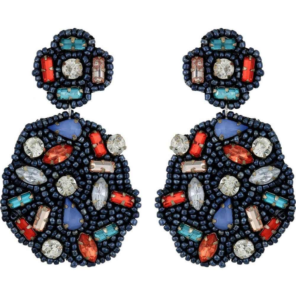 ケネスジェイレーン Kenneth Jay Lane レディース イヤリング・ピアス ジュエリー・アクセサリー【Hematite Seedbeads with Multi Gemstones Pierced Earrings】Hematite/Multi
