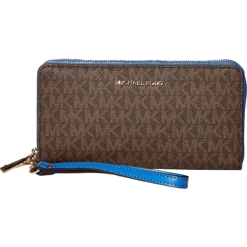 マイケル コース MICHAEL Michael Kors レディース 財布 リストレット【Jet Set Large Double Zip Around Wristlet】Vintage Blue