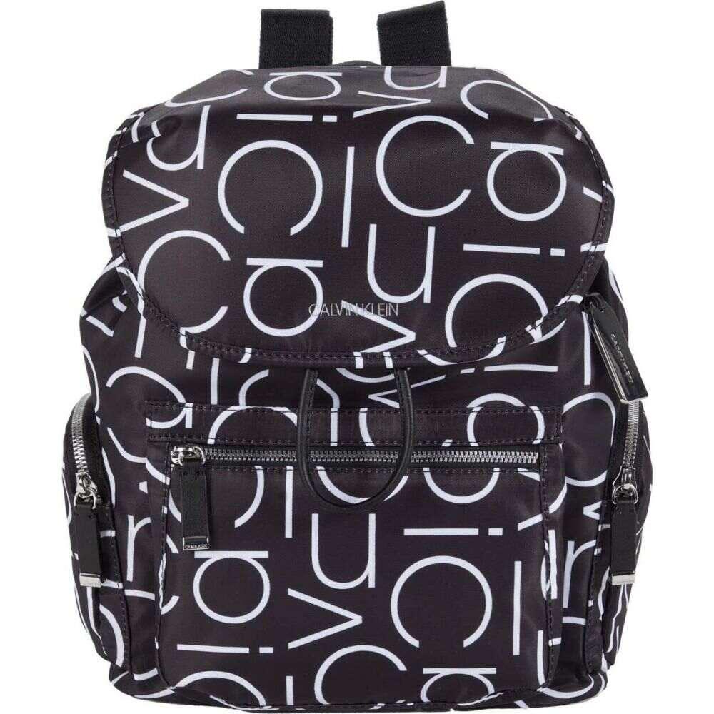 カルバンクライン Calvin Klein レディース バックパック・リュック バッグ【Kimberly Tiny Twill Nylon Backpack】Black/White CK Logo