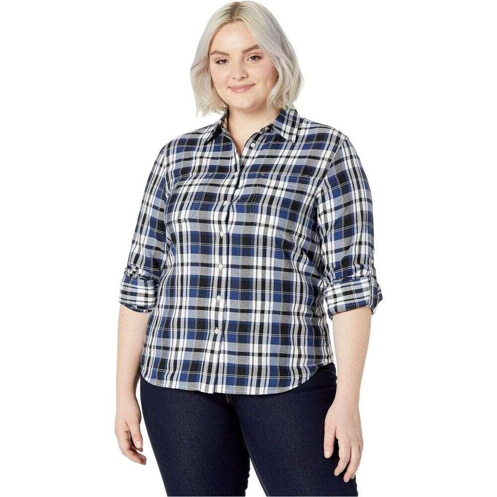 ラルフ ローレン LAUREN Ralph Lauren レディース ブラウス・シャツ 大きいサイズ トップス【Plus Size Classic Cotton Shirt】Black/Blue Multi