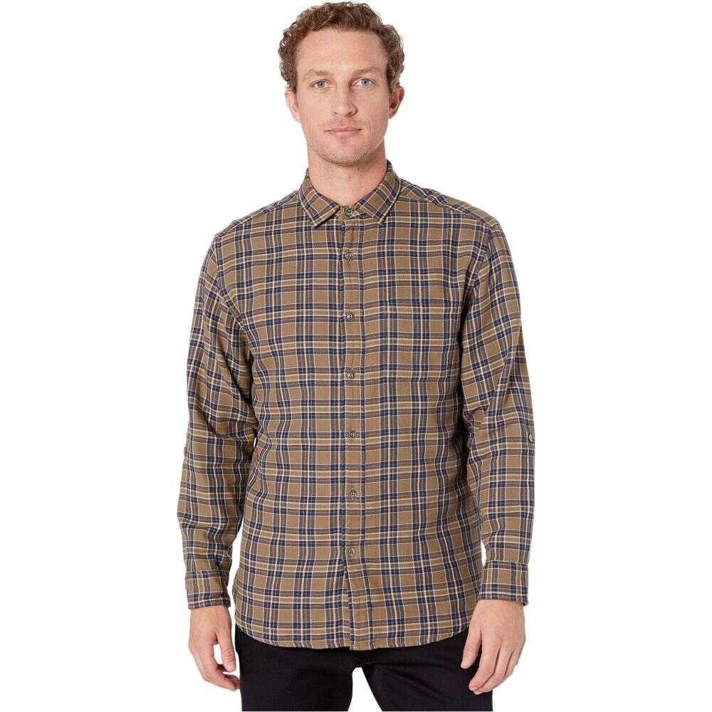 ペンドルトン Pendleton メンズ シャツ トップス【Fairbanks Doublecloth Shirt】Tan/Navy Herringbone Plaid