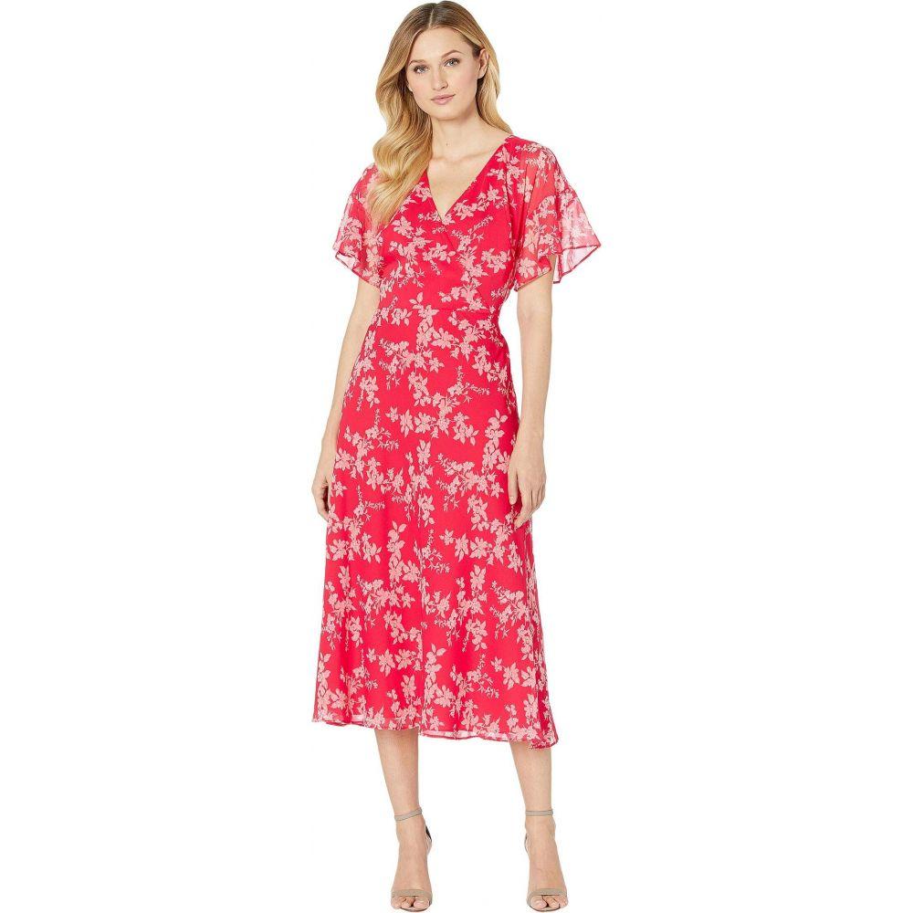 ラルフ ローレン LAUREN Ralph Lauren レディース ワンピース ワンピース・ドレス【Floral Tie-Front Georgette Dress】Watermelon/Pink/Multi