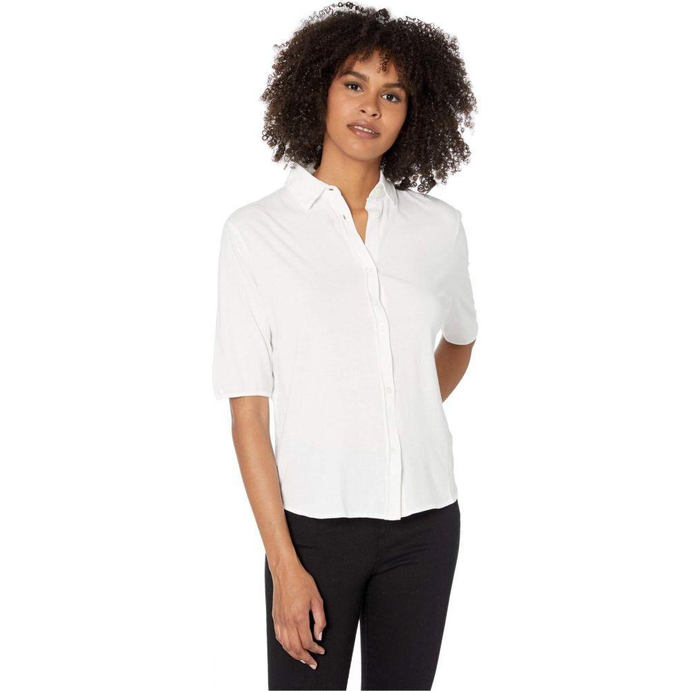 マジェスティック Majestic Filatures レディース ブラウス・シャツ トップス【Cotton Silk Hand Shirt with Back Pleat】Blanc