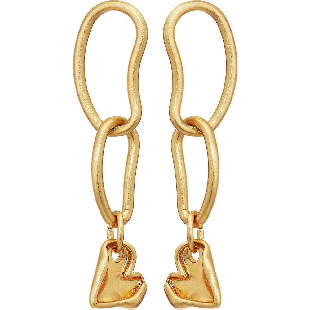 レベッカ ミンコフ Rebecca Minkoff レディース イヤリング・ピアス ハート ジュエリー・アクセサリー【Organic Metal Linked Heart Earrings】Gold