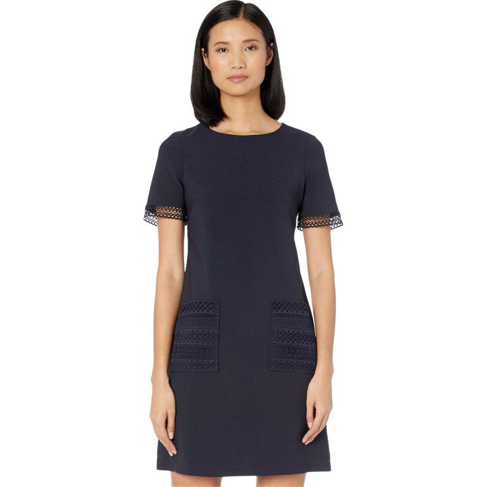 マギーロンドン Maggy London レディース ワンピース シフトドレス ワンピース・ドレス【Shift Dress with Lace Trim Pockets】Dark Navy